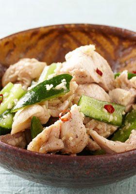きゅうりと鶏肉の中華和え