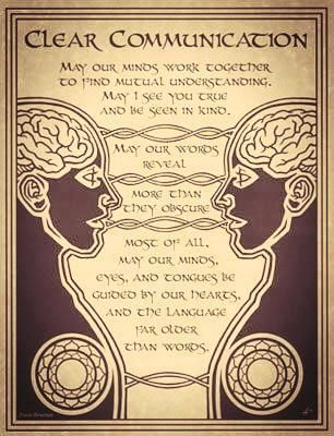 We must keep our speech aligned as well so there is always clear communication.