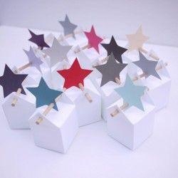 50 étoiles filantes : étiquettes