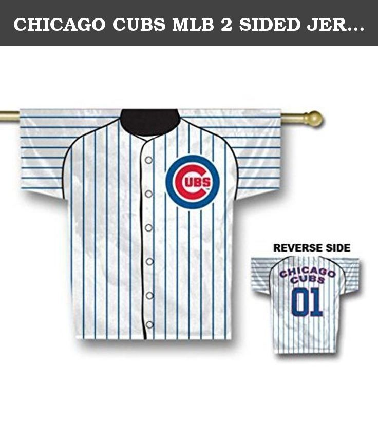 2ddf9f19c80 CHICAGO CUBS MLB 2 SIDED JERSEY BANNER (34 X 30) by BSI. Polyester 100%   Impor…