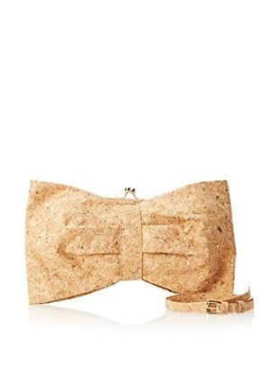62% OFF Julie Brown Women's Bow Bag and Skinny Belt (Natural Cork)