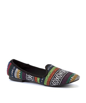 null (Multi Col) Black Aztec Slipper Shoes | 275583599 | New Look