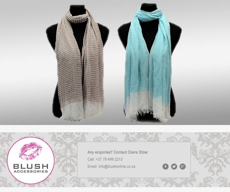 Add flare to your outfit with a fun striped scarf from #Blush. Available in various colours to suit all #fashionistas! #fashion #accessories