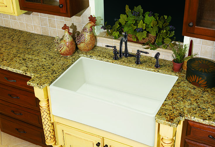 Give your kitchen traditional style with this Franke Fireclay sink.