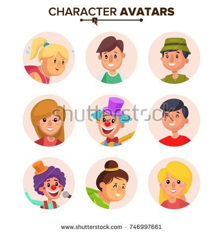 People Characters Avatars Collection Vector. Default Avatar. Cartoon Flat Isolated Illustration