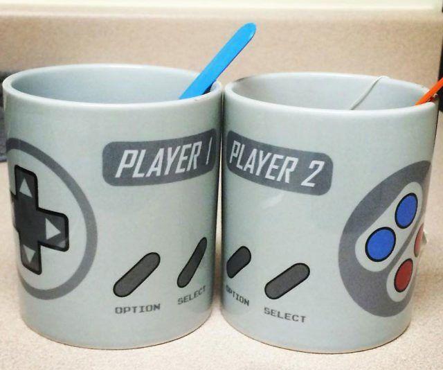 Super NES Controller Mugs - https://tiwib.co/super-nes-controller-mugs/ #MugsGlasses #gifts #giftideas #2017giftideas #xmas