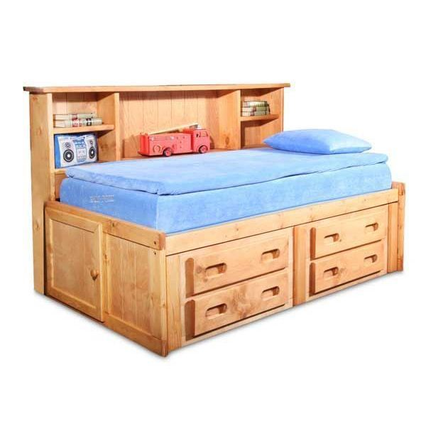 Bunkhouse Twin Captains Bed In 2021 Captains Bed Twin Captains Bed Bunk Beds With Stairs