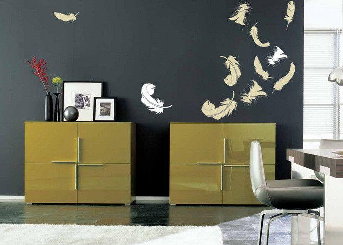 Wandtattoo - Wandtattoo Wandsticker Gefieder - ein Designerstück von taia-s bei DaWanda