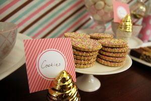 Pink sprinkle cookies