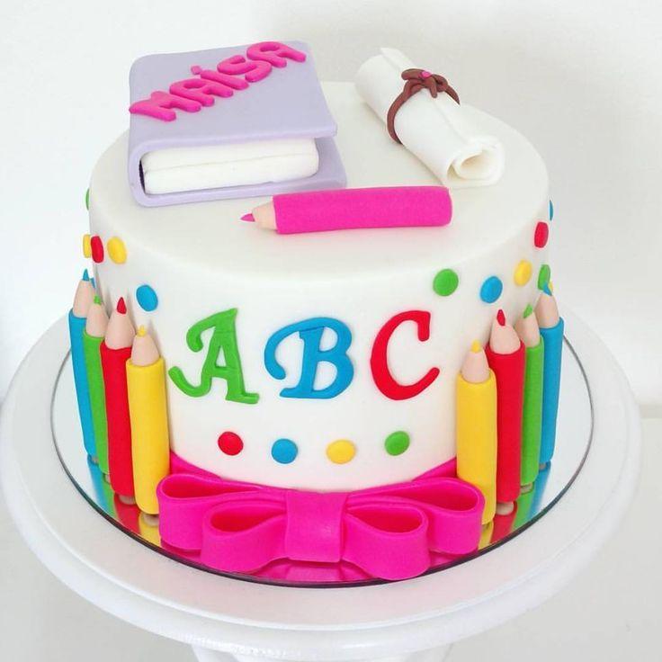 Bild Ergebnis für dekorierte Graduation Cakes ABC   – Einschulung