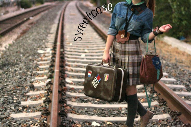 the sweetcase leather bag and belt.