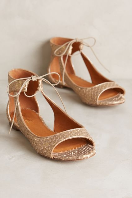 Uniqute flats are hard to find. Miss Albright Scaled Cut-Out Flats - anthropologie.com