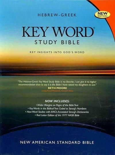 Hebrew-Greek Key Word Study Bible: New American Standard Bible, Genuine, Wider Margins