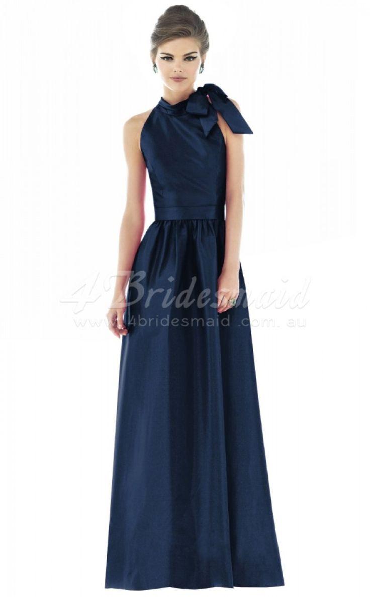 13 best blue bridesmaid dresses images on pinterest a line halter satin long navy blue bridesmaid dressesbd229 ombrellifo Choice Image