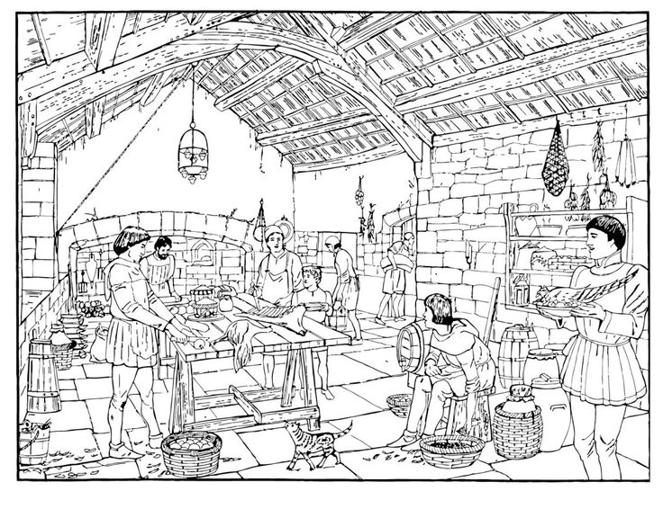 medieval coloring pages feast - photo#12