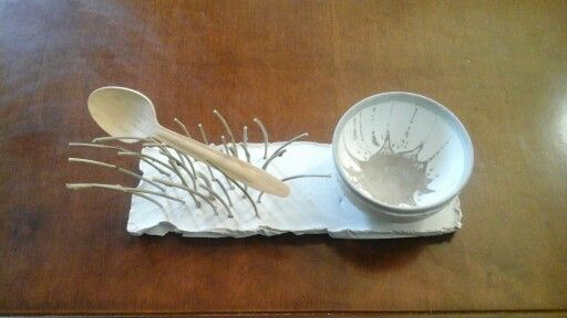 Vassoio, ciotola, cucchiaio