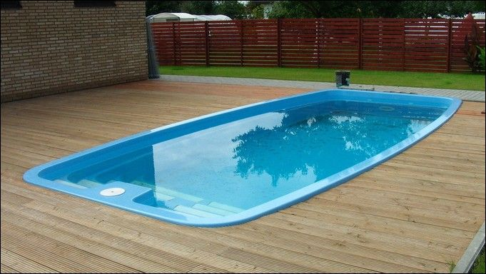 Swimming Pool Rectangular Above Ground Fiberglass Pool With