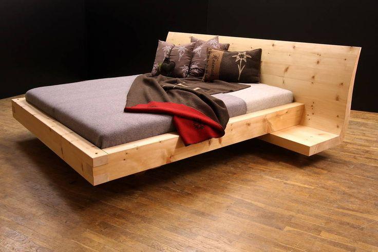 """zirbenbett """"nadine"""" 180 x 200 cm mit beiden schmalen nachttischen, Schlafzimmer entwurf"""