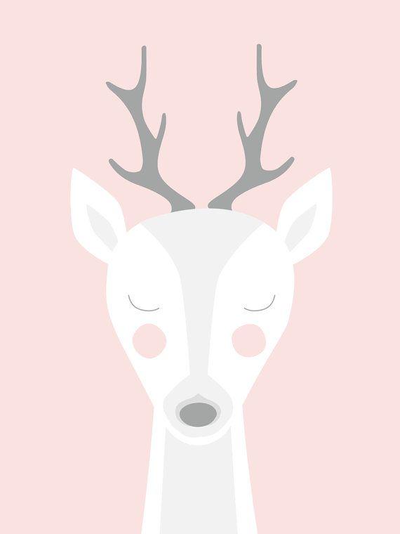 Poster Jolie Biche illustration pour chambre par YourHappyCorner