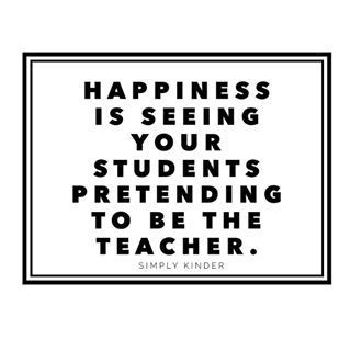 Anyone else LOVE when they over hear their students being the teacher?