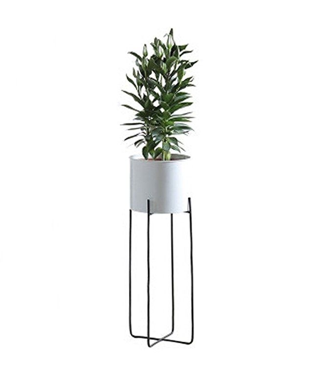 Joanna S Home Tall Indoor Plant Stand With Planter Pot 2 In 1 Modern Metal Floor Flower Pot Stands For Livin Plant Stand Indoor Tall Indoor Plants Metal Floor