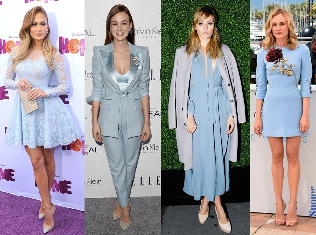look outfit Pantone 2016 Serenity - Blue