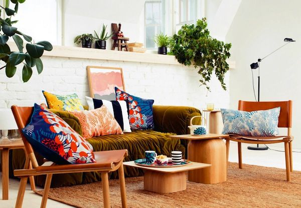 Finnish illustrator Kustaa Saksi for Marimekko's 2015 Home collection