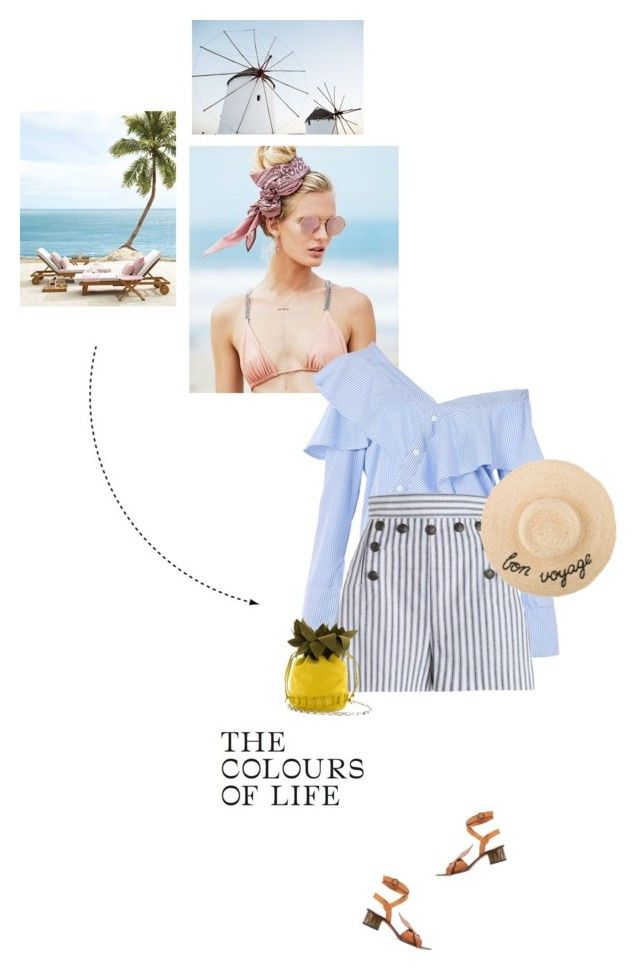 """""""Long time no see!"""" by girl-with-ideas ❤ liked on Polyvore featuring Beach Riot, FAIR+true, Zimmermann, Chloé, Blue, sea and summer2017"""
