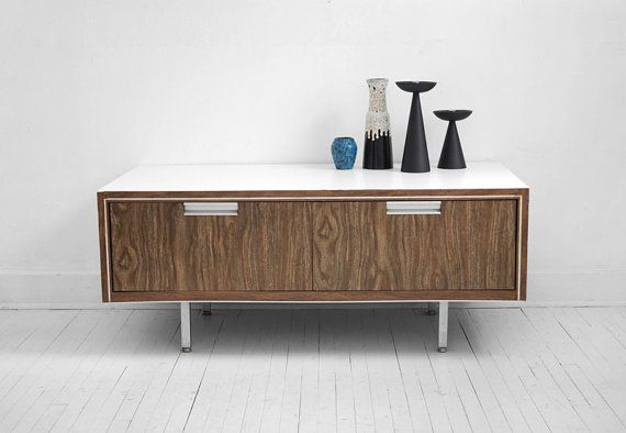 Mid Century Modern Wood Cabinet  Drawer Storage Office by Hindsvik, $325.00