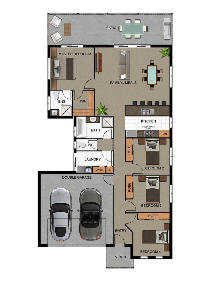 rendered floor plan 33 best Floor plan