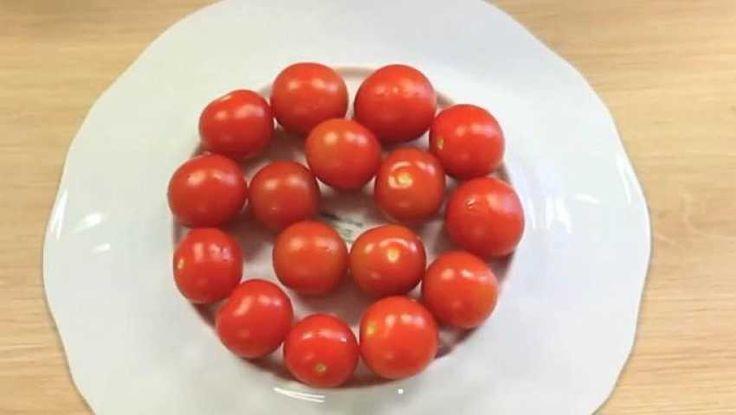 Tomates cerises caramélisées et graines de sésame