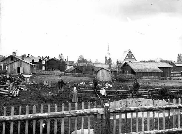 Helsinge village in 1918