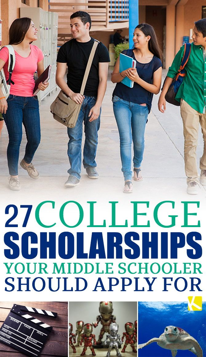 Middle school is the best time to start applying for scholarships! Whether your kid loves fashion, zombies, or the ocean, there are opportunities for all.