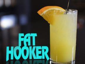 Fat Hook Cocktail: 1oz vodka 3/4oz coconut rum 3/4oz peach schapps OJ