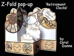 Z Fold pop up  Retirement Clocks on Craftsuprint - View Now!