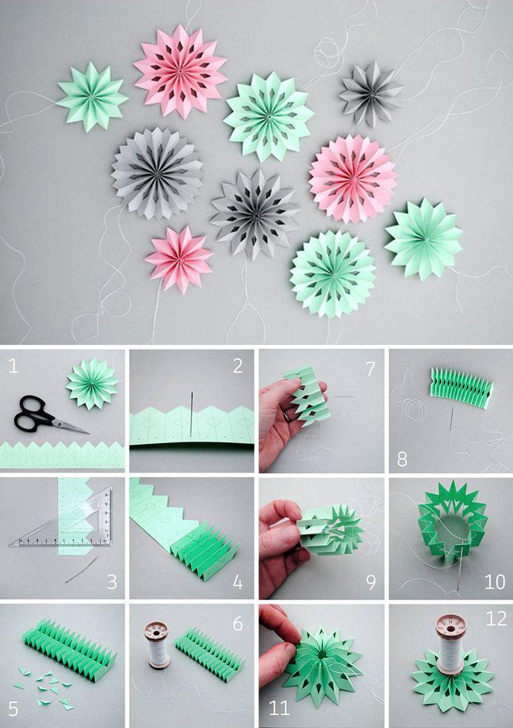 Paper snowflakes DIY   Делаем симпатичные объемные снежинки из бумаги
