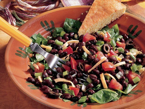 tasty Chicken Taco Salad, omit 1 can of the black beans and add 1 1/2 ...