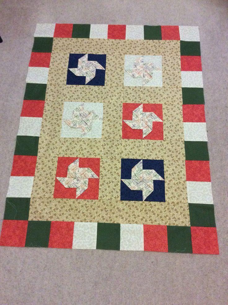 pinwheel pattern quilt