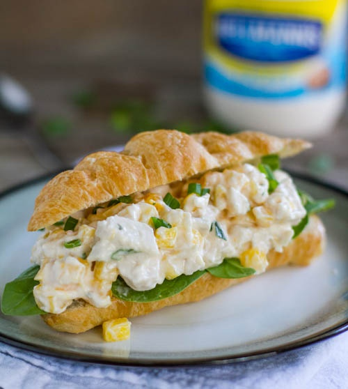 Mango Chicken Salad Sandwich, from Pinch of Yum. A nice change-up from the classic style. I might add grapes.