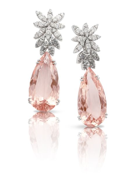 Pasquale Bruni Morganite and Diamond Earrings