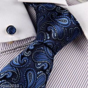 eBay A1044 Blue Paisley Birthday Gifts Husband Silk Mens Necktie Cufflinks Y G | eBay $25.49   $4.95 shipping