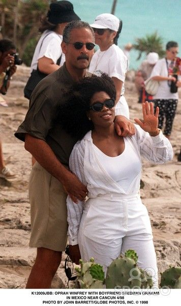 Oprah Winfrey and Stedman Graham in Mexico Near Cancun 04/1998