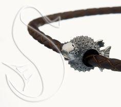Купить Надутая Рыба Шар - серебряный шарм для браслета, морская тематика - серебряный, прелесть, море