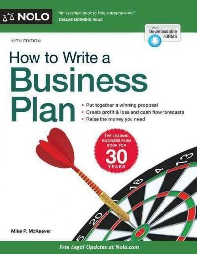 Write a business plan that potential investors will embrace! If you're thinking of starting a business or raising money to expand an existing one, you need a plan. Running a successful business requir
