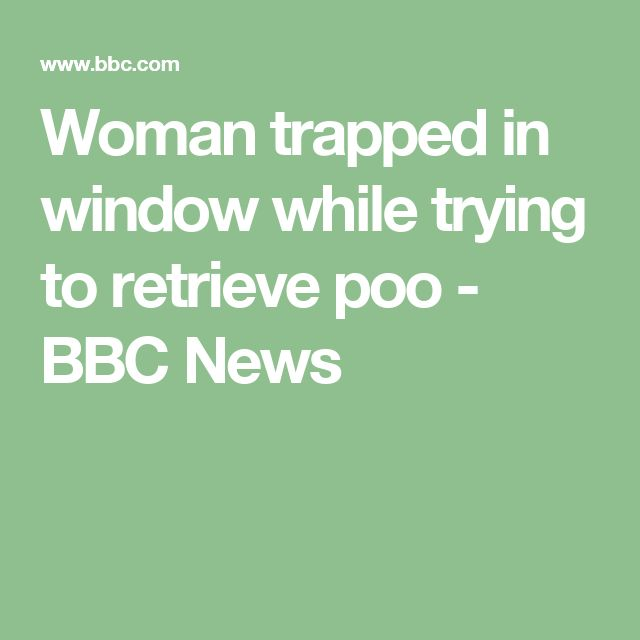 Woman trapped in window while trying to retrieve poo - BBC News