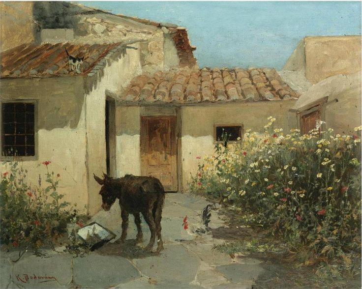 Konstantinos Volanakis, In the garden