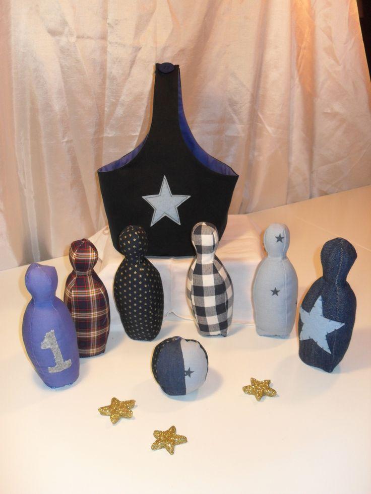 Jeu de quilles ou de bowling en tissu : Jeux, jouets par loulou-pataclou