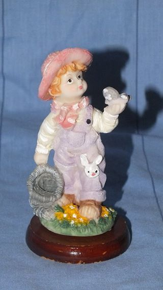 Buy Ornament - Young girl with butterfly and bunny patch ornamentfor R75.00