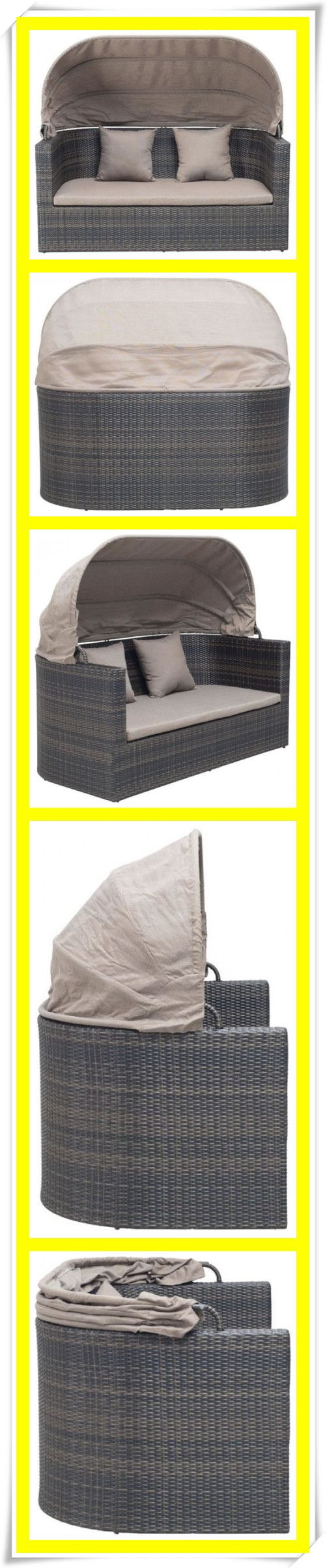 Outdoor Furniture Sofa Furniture Rattan Modern Sofa Loveseat 2 Seater Sofa with Canopy & 47 best Outdoor DAYBED images on Pinterest | Decks Outdoor daybed ...