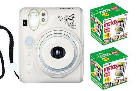 Amazon.co.jp: FUJIFILM インスタントカメラ チェキ INS MINI 50S ミッキーマウス&チェキフィルム100枚セット: カメラ・ビデオ